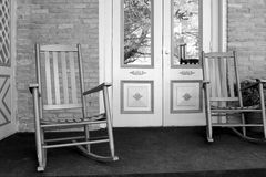 Two rocking chairs on front porch Stock Photos