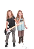 Two rockstar children Royalty Free Stock Photography