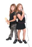 Two rockstar kids stock photography