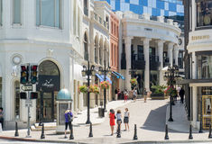 Two Rodeo Drive royalty free stock image