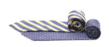 Two rolled ties isolated on white Royalty Free Stock Photo