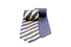 Two rolled ties Stock Photography