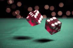 Two rolling dice Stock Photography