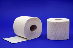 Two rolls of toilet paper Royalty Free Stock Images
