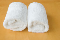 Two rolls of white towel roll Stock Photography