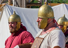 Two Roman Legionary Soldiers Stock Image