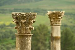 Two roman pillars Royalty Free Stock Images