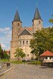 Two Romanesque towers Royalty Free Stock Image