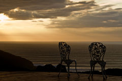 Two romantic chairs Royalty Free Stock Photos