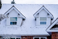 Two Roof Windows Royalty Free Stock Photography