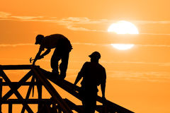 Two Roofer stock image