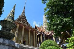 Two rooftops in the Grand Palace royalty free stock photos