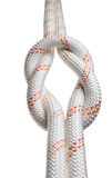 Two ropes bond in reef-knot Stock Images
