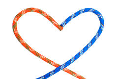 Two ropes in shape of heart Royalty Free Stock Photos