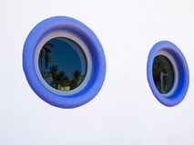 Two Round Art Deco Windows Stock Photo