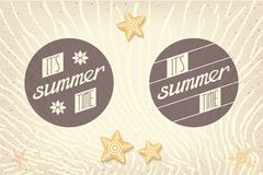 Two round emblems designed for summer Royalty Free Stock Images