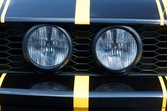 Two round headlights Stock Photos