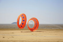 Two round kites Stock Photo