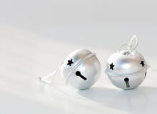 Two Round Silver Bell Royalty Free Stock Photography