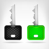 Two rounded keys object 3D design  Stock Photo