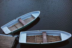 Two Rowing Boats Stock Photos