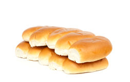 Two rows of bread rolls Stock Photos