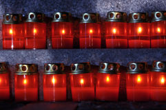 Two rows of candles Royalty Free Stock Photos