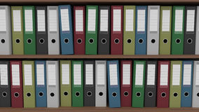 Two rows of different binders, CGI Royalty Free Stock Photos