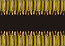 Two rows of golden bullets Royalty Free Stock Photo