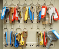 Two rows of keys Royalty Free Stock Images