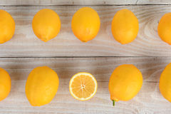 Two Rows of Lemons Stock Photography