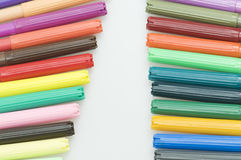 Two rows of markers Royalty Free Stock Image