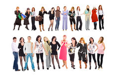 Two rows of people Stock Image