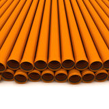 Two rows of tubes Stock Photo
