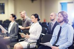 Employees at conference Royalty Free Stock Images