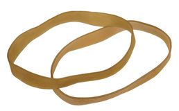 Two Isolated Rubber Bands Royalty Free Stock Photography