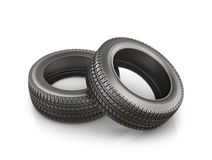 Two rubber tire, Stock Photo