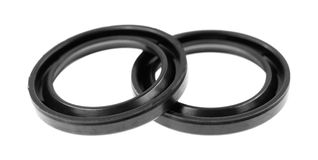 Two rubber transmission seals. Stock Images
