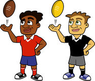 Two Rugby Players Stock Photo