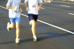 Two runners. Two men running Stock Photography