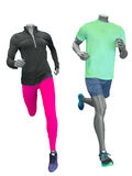 Two running mannequins Stock Image