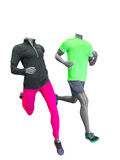 Two running mannequins Royalty Free Stock Image