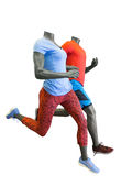 Two running mannequins Royalty Free Stock Photo