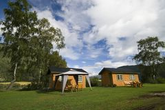 Two rural cabins Royalty Free Stock Photography