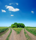 Two rural road Stock Image