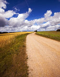 Two rural roads Stock Images