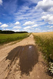 Two rural roads Stock Photos
