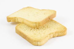 Two rusk. On white background Stock Images
