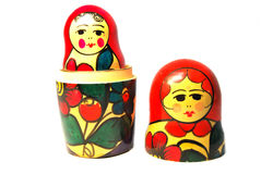Two russian dolls Royalty Free Stock Photography