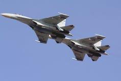 Two russian fighters su-27 Stock Photo